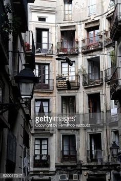 Stock Photo : Round square in Calle Milans, Barcelona