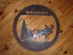 full saw blades - Rustic Metal Art For your home, log cabin, cottage