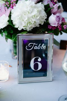 Wedding Centerpieces Diy Purple Silver Table Numbers Ideas For 2019 Wedding Color Pallet, Fall Wedding Colors, Autumn Wedding, Purple Wedding, Trendy Wedding, November Wedding, Wedding Flowers, Picture Frame Table, Wedding Picture Frames
