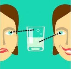 Voir le verre à moitié plein et non à moitié vide!!  savoir se contenter de ce qu'on possède déjà!