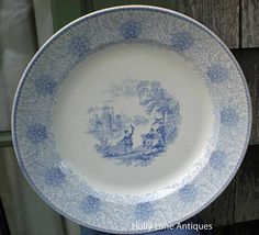 Antique Blue Transfer Large Plate Persia Pattern - R