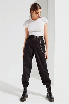 Slide View: 1: I.AM.GIA Cobain Relaxed-Fit Chain Pant