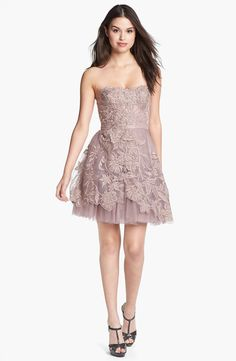 Adrianna Papell Embroidered Tulle Fit & Flare Dress   Nordstrom