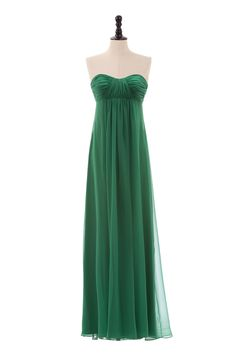Sweetheart Chiffon Dress with Empire Waist