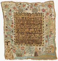 Sampler, 1785. Collection of Smithsonian Cooper-Hewitt, National Design Museum