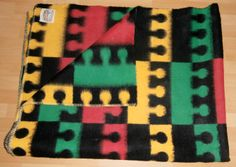 Vintage blanket with label BEST QUALITY Made in Holland