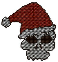Santa skeleton Plastic Canvas Pattern Available on my website  http://www.thumbalinascorner.com