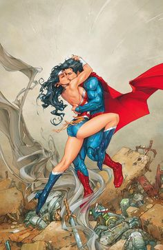 DC Comics reignites *Young Romance: A New 52 Valentine's Day Special arrives Feb.by Kevin Melrose – on Nov 2012 in Comics, Comic News. [great 'tidbit' of history, check it out] Wonder Woman Art, Superman Wonder Woman, Wonder Woman Kunst, Wonder Woman Comic, Wonder Women, Comic Book Artists, Comic Books Art, Comic Art, Arte Dc Comics