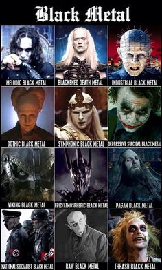 black metal genres