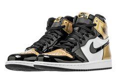 145f4a314234 Nike Air Jordan 1 OG NRG Gold Toes Black And Gold Jordans