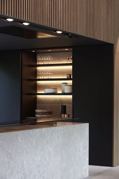 Carpentier Hardwood Solutions - Villa Lubbeek i. Kitchen Interior, Interior And Exterior, Kitchen Design, Interior Design, Rural House, Concept Home, Timber Cladding, Japanese Interior, Cuisines Design