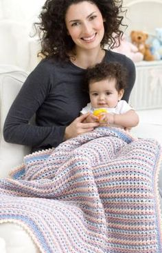 Wrapped in Love Blanket Crochet Pattern - free download, click on picture