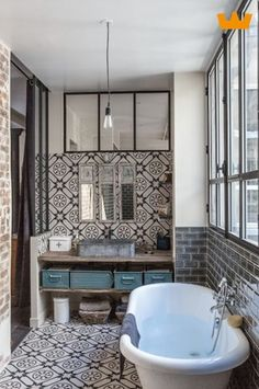 25 Amazing Bathroom Design Ideas - Page 16 of 25 - Home & Garden Sphere Bathroom Inspiration, Bathroom Interior, Interior Design, House Interior, Bathrooms Remodel, Home, Bathroom Design, Home Decor, Patterned Bathroom Tiles