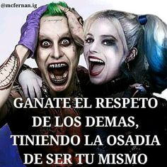 Uploaded by Find images and videos about phrases, frases and joker and harley quinn on We Heart It - the app to get lost in what you love. Funny Spanish Memes, Spanish Humor, Spanish Quotes, Arley Queen, The Ugly Truth, Joker Quotes, Madly In Love, Joker And Harley Quinn, Love Messages