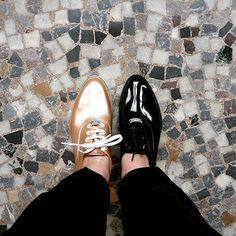 These shoes are so beautiful you can't even just choose one! Oxfords with a platform and some shine to make it pop!!! #oxfords #jellyshoes #SS16