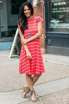 Pin Striped Jersey Swing Dress | 5 Colors! | Jane