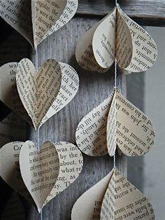 Les Misérables, Voltaire, French, 3D Paper Mobile, Paper Decoration, Wedding Decor, Paper Mobile, Heart Mobile, Photo Prop, Bridal Shower