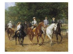 The Morning Ride Giclee Print by Heywood Hardy at AllPosters.com