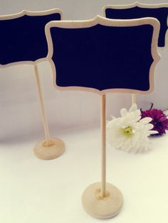 Wooden Black Chalk Board Heart Stand Table Decoration Wedding Party Number 19cm