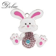 Cheap enamel rhinestone pendants, Buy Quality alloy enamel directly from China alloy pendant Suppliers: 44 * 42mm Easter Bunny Alloy Enamel Rhinestone Pendant Key Chain Accessories Jewelry for Chunky Necklace