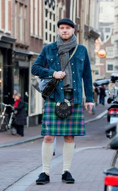 Kilt in Amsterdam. Man, would I date this dude.