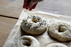 Black and white bagels