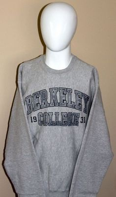 NEW Berkeley College Gray Sweatshirt Size Large  fashion  clothing  shoes   accessories   51214c4d8