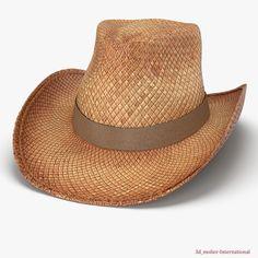 Straw Cowboy Hat 3d model http://www.turbosquid.com/3d-models/3d-straw-cowboy-hat-model/897755?referral=3d_molier-International