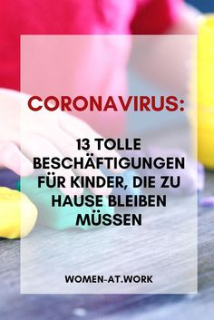 Ideas for families in times of corona virus: 13 great activities for children who stay at home - stay home for your health Indoor Activities For Kids, Family Activities, Crafts For Kids, Minute To Win It, Adult Fun, Playroom Decor, Stay At Home, Kindergarten Activities, Feeling Happy