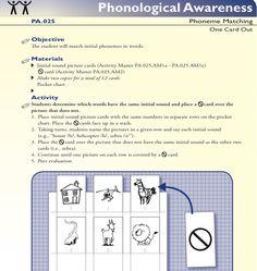 Phonological awareness activity