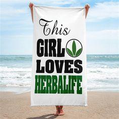 This Girl Loves Herbalife Beach Towel