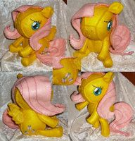 Fluttershy Felt Plush by *LaPetitLapearl on deviantART