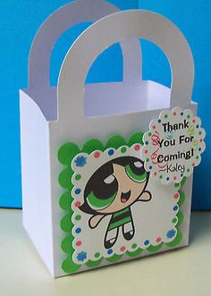 8 POWERPUFF GIRLS  Personalized  boxes birthday party favors goody bags