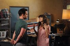New Girl began with the familiar scene of Nick and Jess participating in another rousing game of True American with their closest friends. Zooey Deschanel, Flirting Memes, Dating Memes, Nick Et Jess, New Girl, Jake Johnson, Nick Miller, Up In Smoke, Tv Episodes