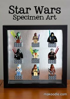 Step up your geeky home decor game with this fun LEGO minifig specimen art tutorial from Makoodle!
