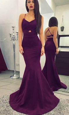 sexy prom dresses,mermaid prom dresses,backless prom dresses,grape prom dresses @simpledress2480