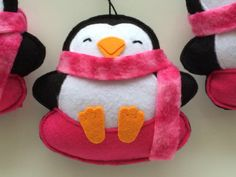 Snow Tube Penguin Ornaments-Penguin by GingerSweetCrafts on Etsy