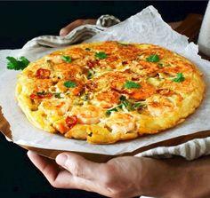Savory Korean Shrimp Pancake | Food Recipes