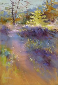 Barbara Newton Art Journal: November Light dominated rather than form. Pastel Landscape, Abstract Landscape, Landscape Paintings, Abstract Art, Watercolor Trees, Watercolor Landscape, Watercolor Paintings, Watercolors, Pastel Artwork