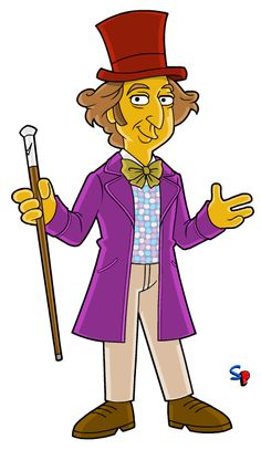 Willy Wonka (from Willy Wonka & the Chocolate Factory film) I've had Willy Wonka on my list of characters to draw for a while now, but I . Simpsons Characters, Simpsons Art, Movie Characters, Willy Wonka, Funny Character, Character Concept, Marvel Comics Art, Nerd Art, Batman