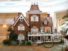Life-Size Gingerbread House at Grand Floridian