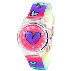 e82fa29526 Hansying Resin Straps Heart Design Girls Waterproof Quartz Watches   See  this great product. (
