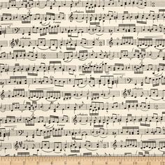 Timeless Treasures Sheet Music Cream from @fabricdotcom  From Timeless Treasures, this cotton print is perfect for quilting, apparel and home decor accents.  Colors include black and cream.