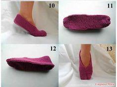 Comment tricoter des jolis pantoufles pour l'hiver - C'est fait maison !