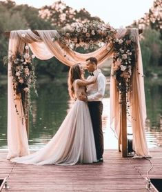 Having a perfect wedding arch is as important as choosing the right wedding dress, because it is in front of this arch that many magic and touching moments occur. An amazing flower wedding arch will make this moment even more memorable. Perfect Wedding, Dream Wedding, Summer Wedding, Trendy Wedding, Lace Wedding, Wedding Week, Rose Gold Wedding Dress, Dusty Rose Wedding, Diy Wedding Dress