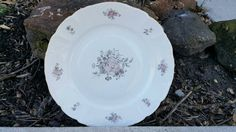 Vintage Fine Bohemian China , Maria Pattern, Round Cake Platter Plate, Made In Czechoslovakia 13 inches