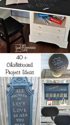 Furniture Fix, Repurposed Furniture, Furniture Projects, Furniture Makeover, Painted Furniture, Diy Projects, Chalkboard Drawings, Diy Chalkboard, Bedroom Crafts