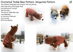 "I love you baby  PDF, ed Teddy Bear #Pattern, #Amigurumi ""Pattern, #miniature, #Lesson, artist bear, #Crochet #toy, soft toys, baby gift, cute toy, #toy pattern    Make a lovely toy for Your little ... #sellertools #crochet #pattern #amigurumi #children #knitting #petslair #zoo #lesson #kids #animals #murzikus #patterns #crochet"