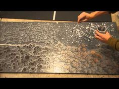 Metallic epoxy countertop coating using Leggari products. Product info at end of… – epoxy resin DIY Resin Countertops, Kitchen Countertops, Countertop Redo, Epoxy Floor, Resin Table, Floor Design, Concrete Floors, Resin Crafts, Small Spaces