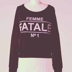 Femme Fatale Sweater http://www.vanityrow.com/collections/new/products/femme-fatale-sweater